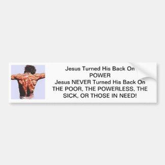 Jesus girou sua parte traseira no poder adesivo para carro