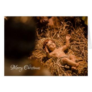 Jesus infantil cartão comemorativo