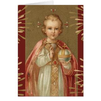 Jesus infantil de Praga Cartão