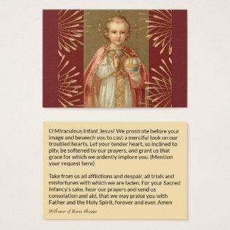 Jesus infantil do cartão santamente de Praga