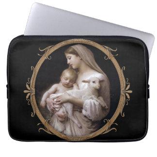 JESUS, MARY E O CORDEIRO CAPA DE NOTEBOOK