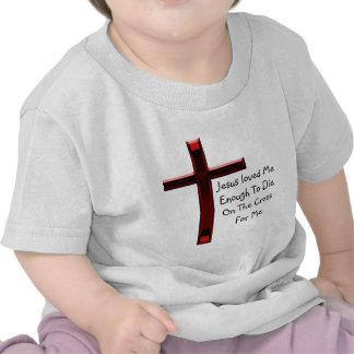Jesus morreu na cruz para nós tshirts