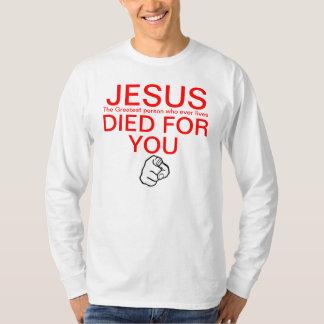Jesus morreu para você que aponta o dedo camiseta