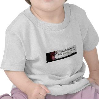 Jesus morreu para você, você viverá para ele? camisetas