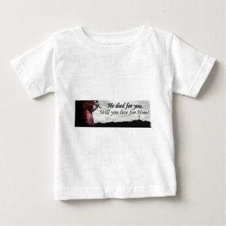 Jesus morreu para você, você viverá para ele? tshirts