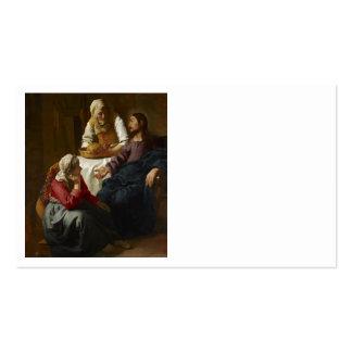 Jesus na casa de Mary e de Martha Modelo Cartoes De Visita