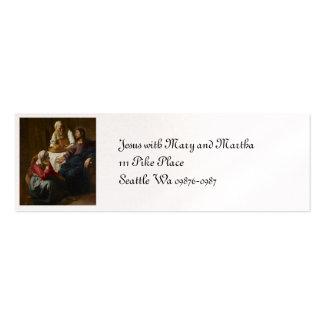 Jesus na casa de Mary e de Martha Cartão De Visita Skinny