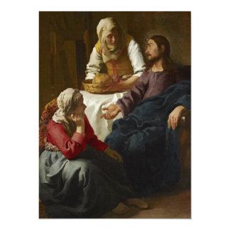 Jesus na casa de Mary e de Martha Convites Personalizados