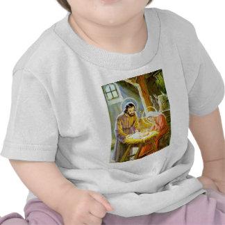 Jesus na natividade do Natal do comedoiro Camisetas