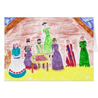 Jesus no cartão de Natal do comedoiro