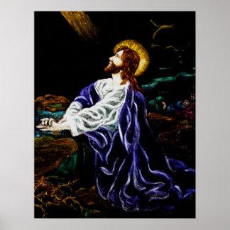 Jesus no jardim de Gethsemane Poster