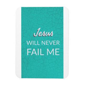 Jesus nunca falhar-me-á - ímã