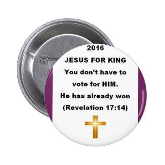 Jesus para o rei Botão Bóton Redondo 5.08cm