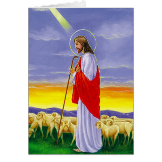Jesus, páscoa religiosa cartão comemorativo