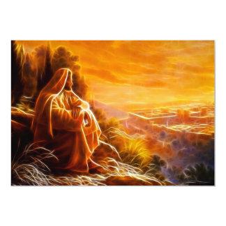 Jesus que pensa sobre pessoas (você) convite 12.7 x 17.78cm