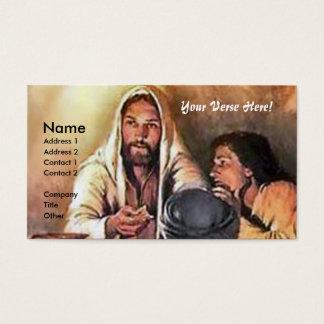 Jesus quebra o pão cartão de visitas
