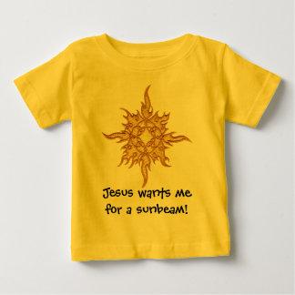 Jesus quer-me para um raio de sol! camiseta para bebê