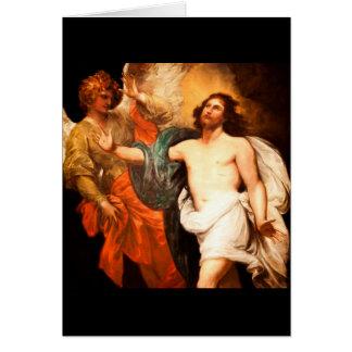 Jesus Resurrected com anjo Cartões