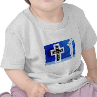 Jesus salvar a imagem da crucificação tshirts