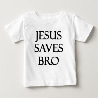 Jesus salvar Bro Camiseta Para Bebê