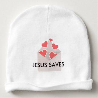 Jesus salvar o boné do bebê gorro para bebê