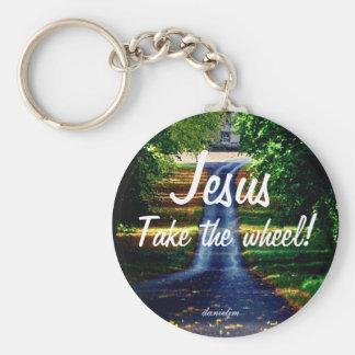 Jesus toma o chaveiro da roda