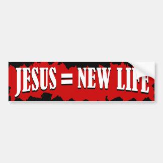 Jesus = vida nova adesivo para carro