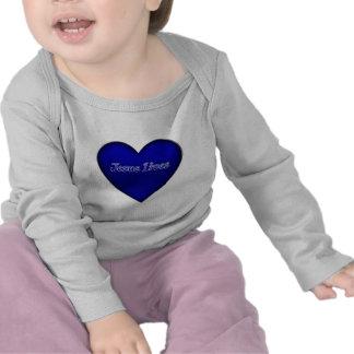 Jesus vive camisa do bebê do coração t-shirt