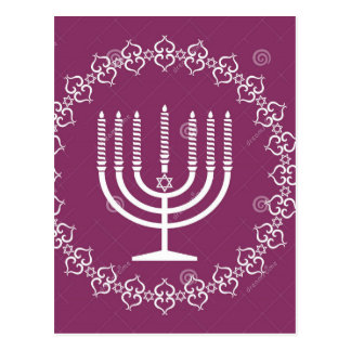 jewish-menorah-holiday-vector-background-27207795. cartão postal