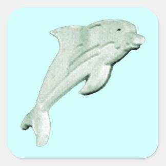 jGibney 2009 de Daytona Beach do golfinho O MUSEU Adesivos Quadrados