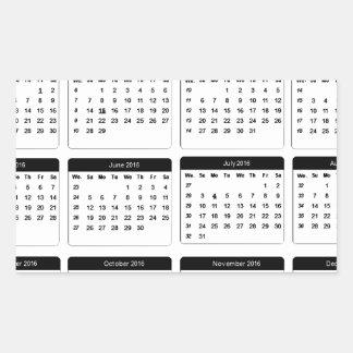 jGibney 2016 Calendar2 os presentes de Zazzle do Adesivo Retangular