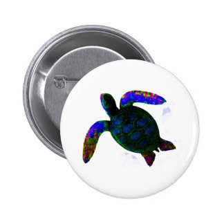 jGibney azul da tartaruga os presentes de Zazzle Bóton Redondo 5.08cm