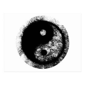 jGibney branco da arte preta de Yin Yang O MUSEU Cartão Postal