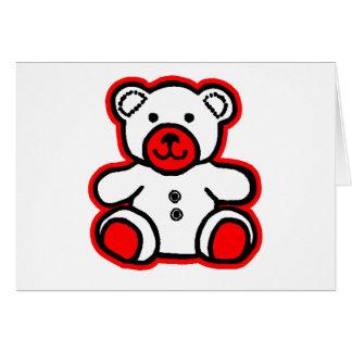 jGibney branco vermelho do urso de ursinho O MUSEU Cartão Comemorativo