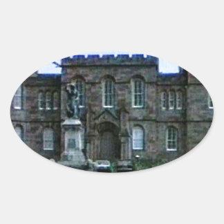 jGibney da arte snap-37689a do castelo de Scotland Adesivo Oval