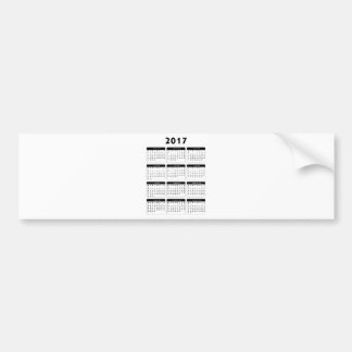 jGibney de 2017 calendários os presentes de Zazzle Adesivo Para Carro