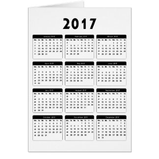 jGibney de 2017 calendários os presentes de Zazzle Cartão Comemorativo