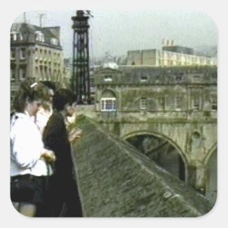 jGibney de Inglaterra 1986 snap11240a do banho O Adesivos Quadrados