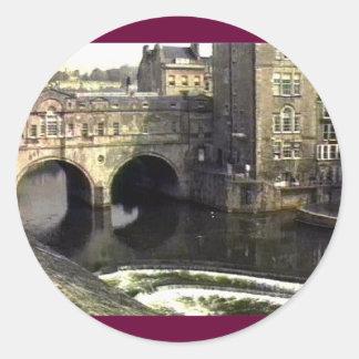 jGibney de Inglaterra 1986 snap-11409a do banho O Adesivos Em Formato Redondos