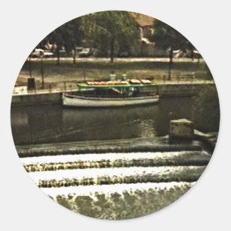 jGibney de Inglaterra 1986 snap-11510art do banho Adesivo Redondo