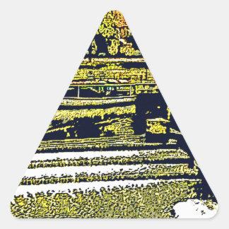 jGibney de Inglaterra 1986 snap-11510artBlack do Adesivo Triangular