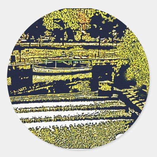jGibney de Inglaterra 1986 snap-11510artBlack do Adesivo Em Formato Redondo