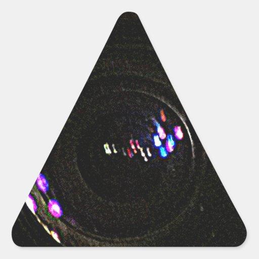 jGibney de trabalho ART1 da CAPTAÇÃO video O MUSEU Adesivo Triângulo