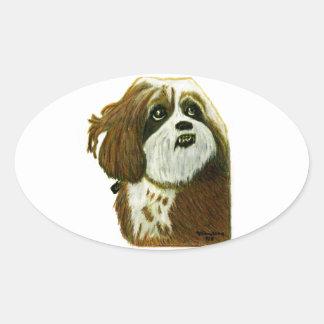 jGibney do cachorrinho de MURPHY os presentes de Adesivo Oval