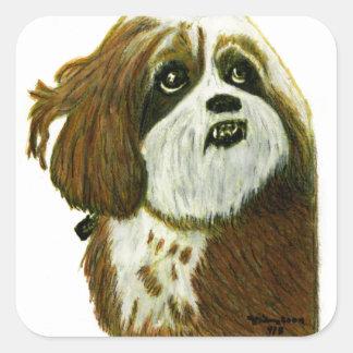 jGibney do cachorrinho de MURPHY os presentes de Adesivo Quadrado
