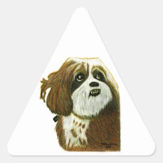 jGibney do cachorrinho de MURPHY os presentes de Adesivo Triangular