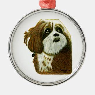 jGibney do cachorrinho de MURPHY os presentes de Ornamento Redondo Cor Prata
