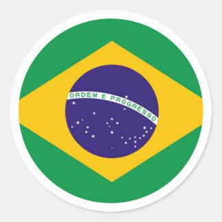 jGibney do círculo da bandeira de Brasil os Adesivo Redondo