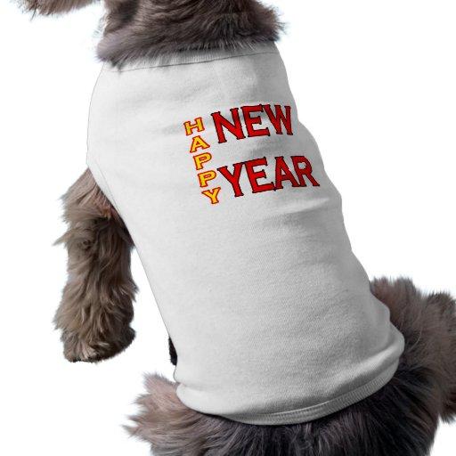 jGibney do feliz ano novo Verde-Vermelho Roupa Para Pet
