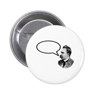 jGibney do preto da bolha da palavra de Friedrich Bóton Redondo 5.08cm